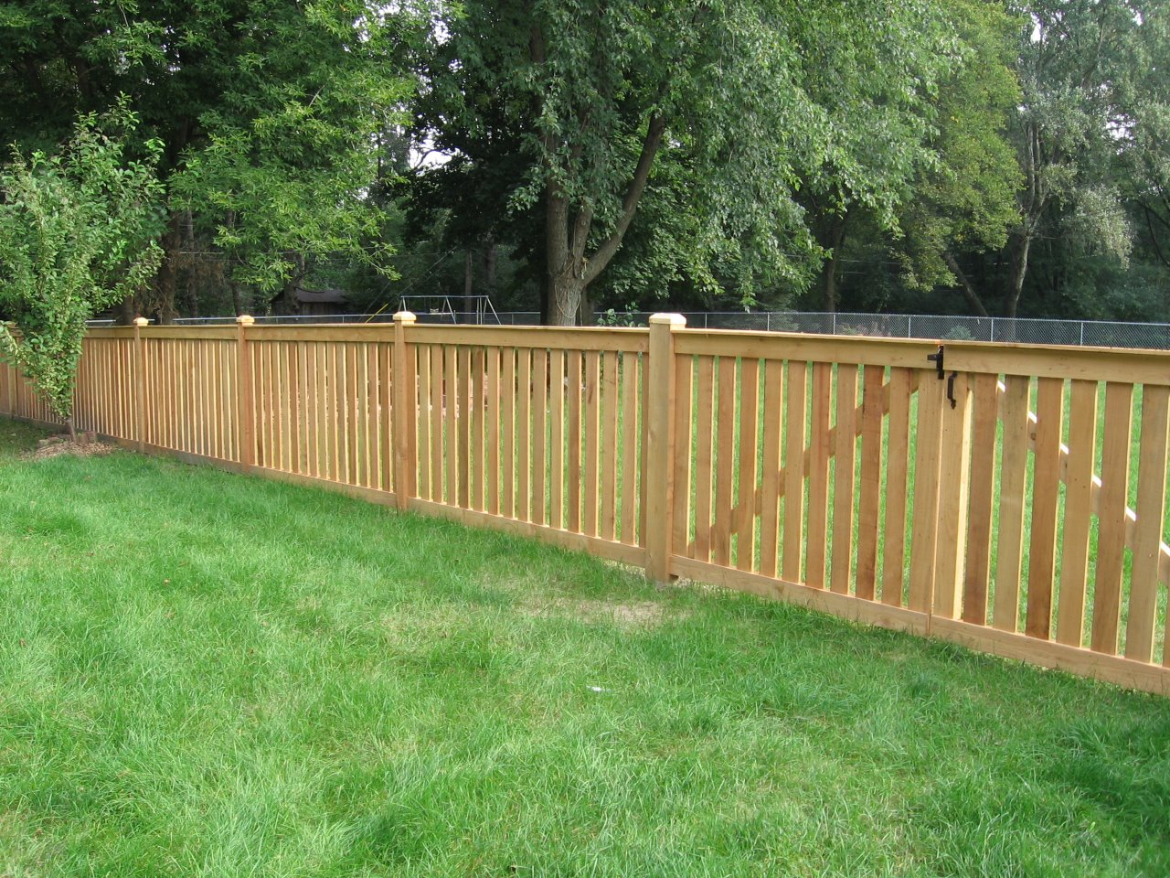 4 39 spaced traditional outside view cedar fence for 4 foot fence ideas