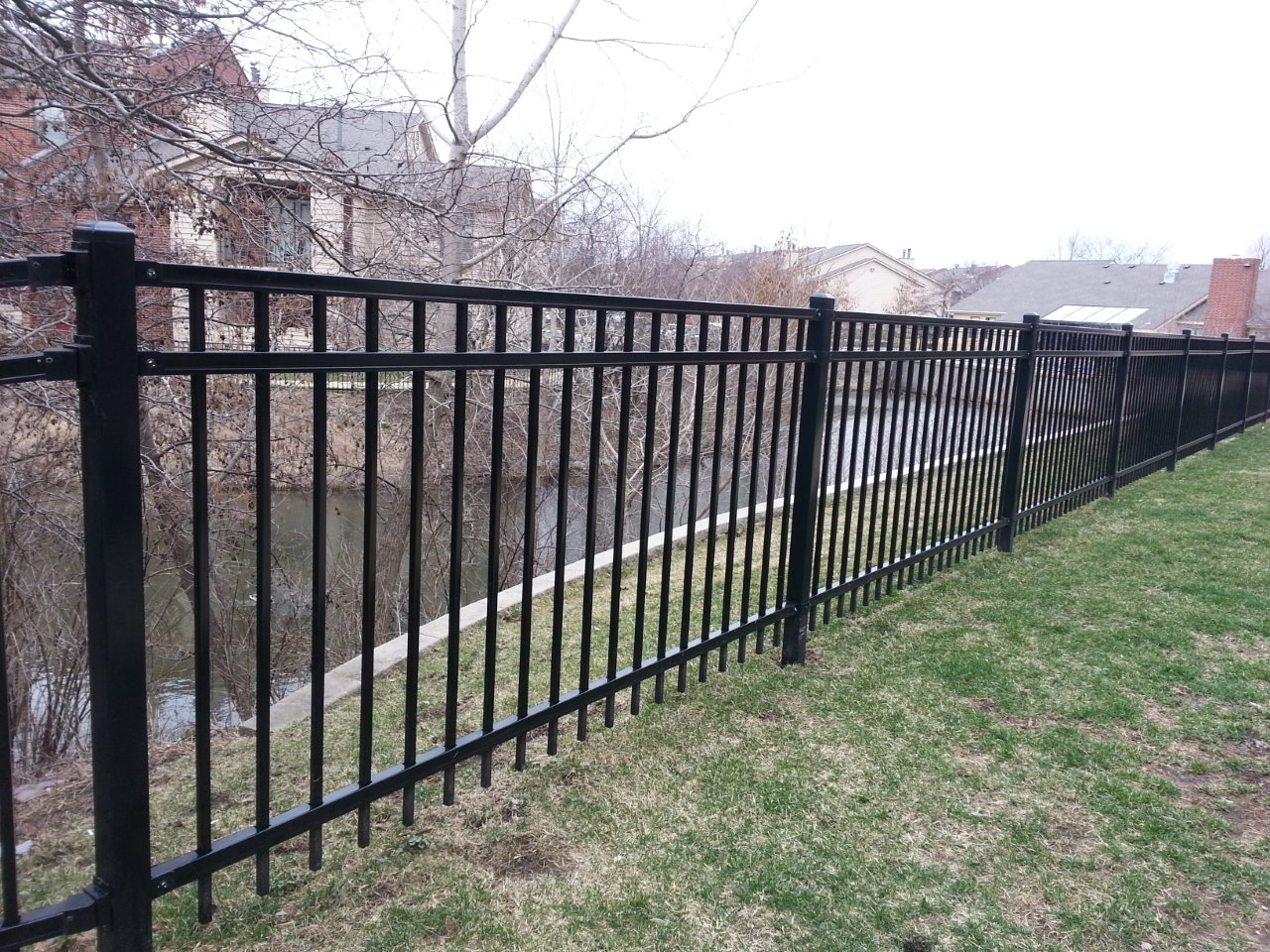 Commercial large fencing project cardinal fence supply