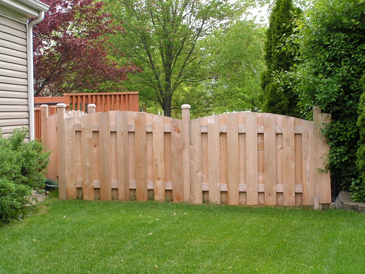 5 Arched Picket With 1 X 6 Boards Inside View Cedar