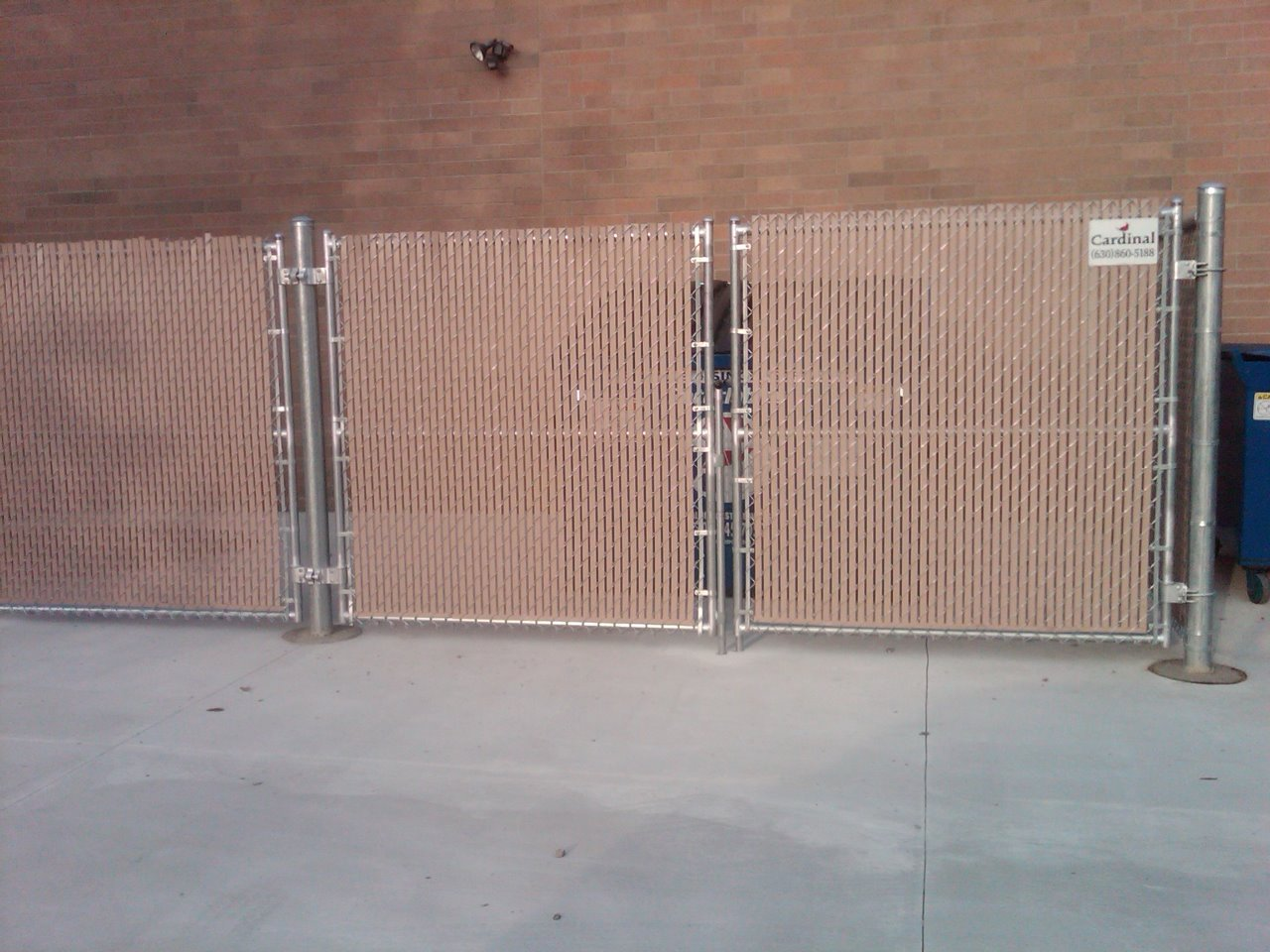Chain Link Fence With Slats Cardinal Fence Amp Supply Inc