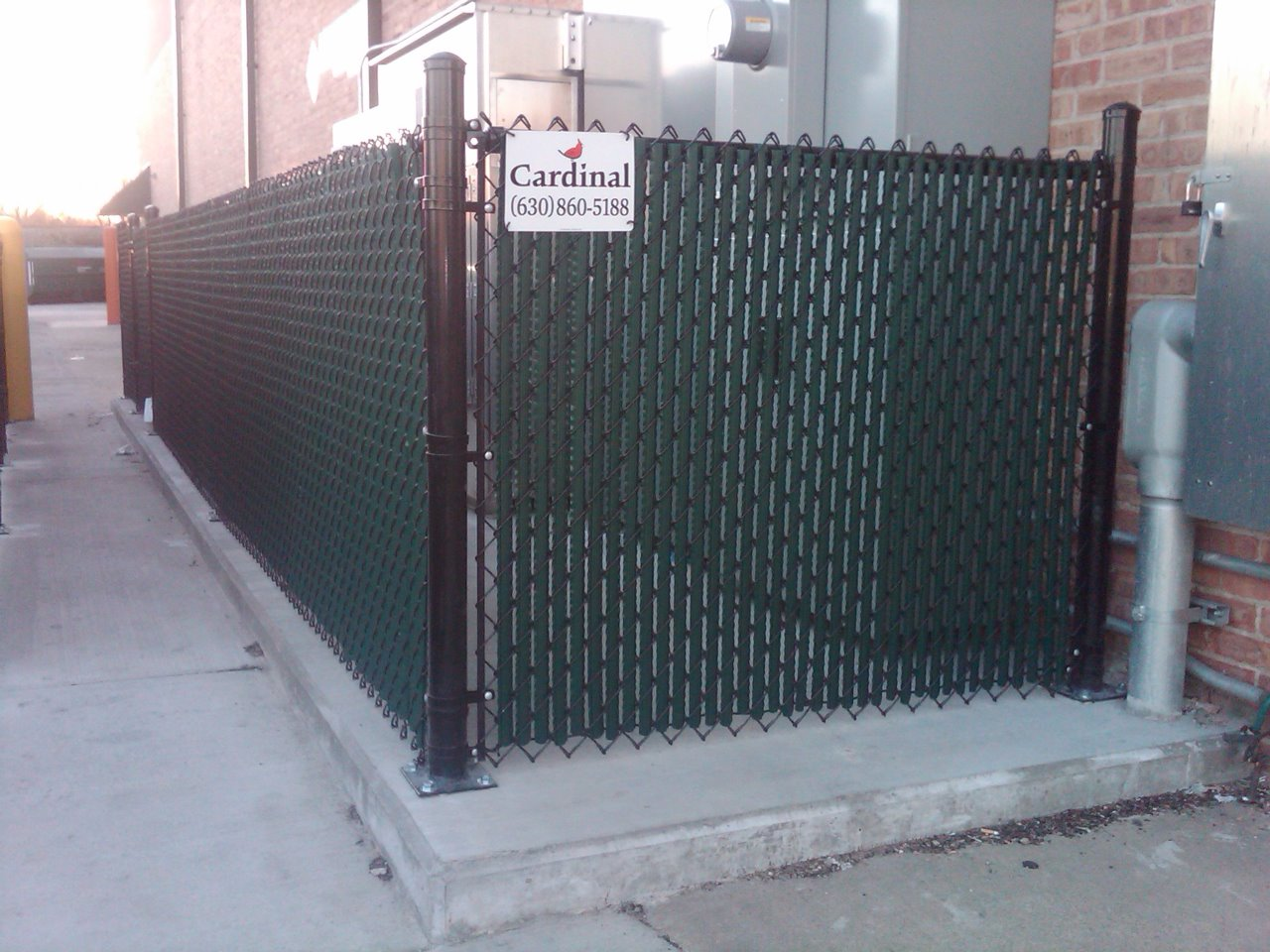 Vinyl Fence With Slats For Commercial Application